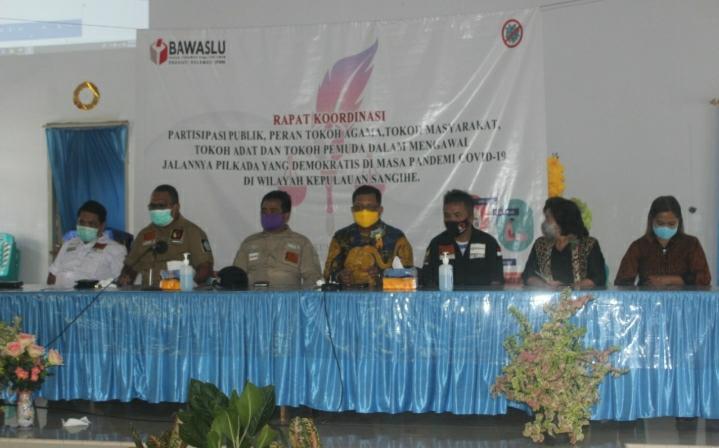 Kawal Pilkada 2020, Bawaslu Sulut Gelar Rakor di Sangihe