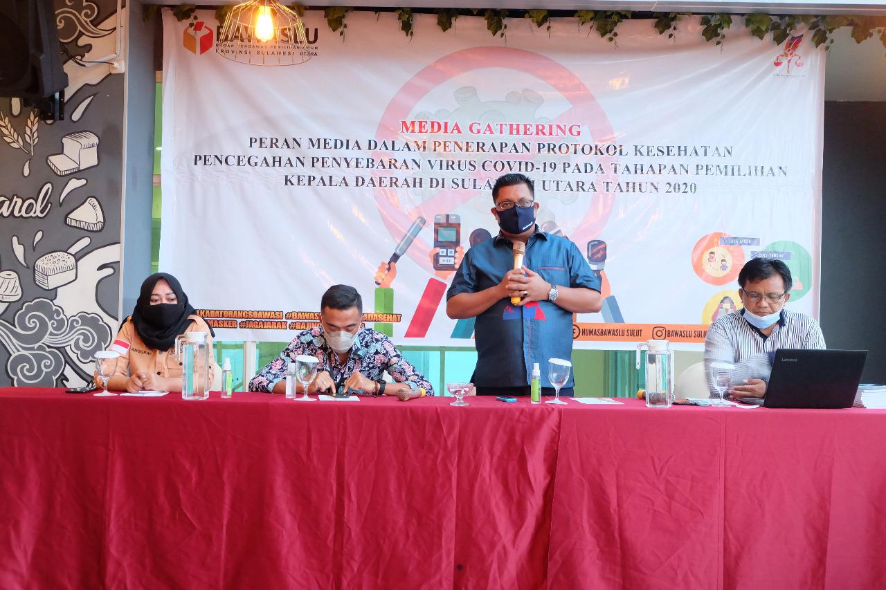 Gandeng Jurnalis, Bawaslu Sulut Gelar Media Gathering di Lagoon Hotel Manado