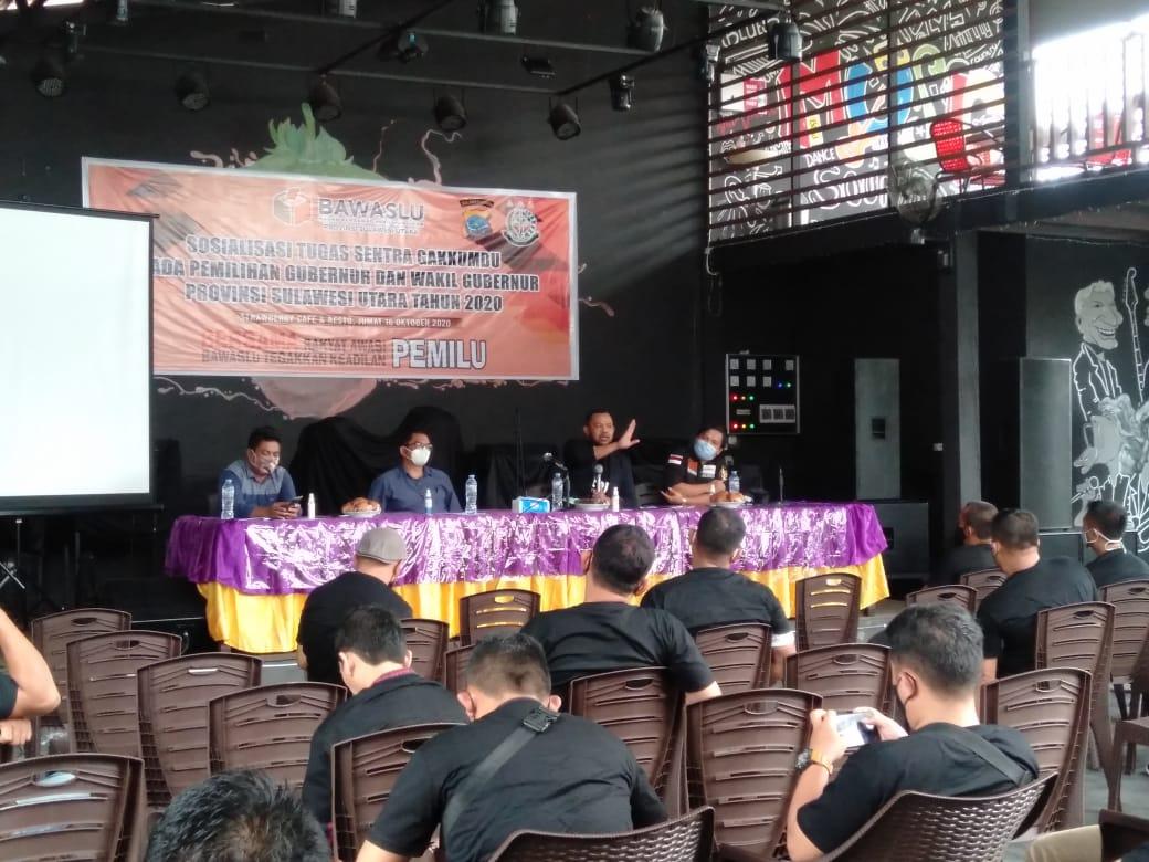 Bawaslu Sulut Gelar Sosialisasi Tugas Gakumdu