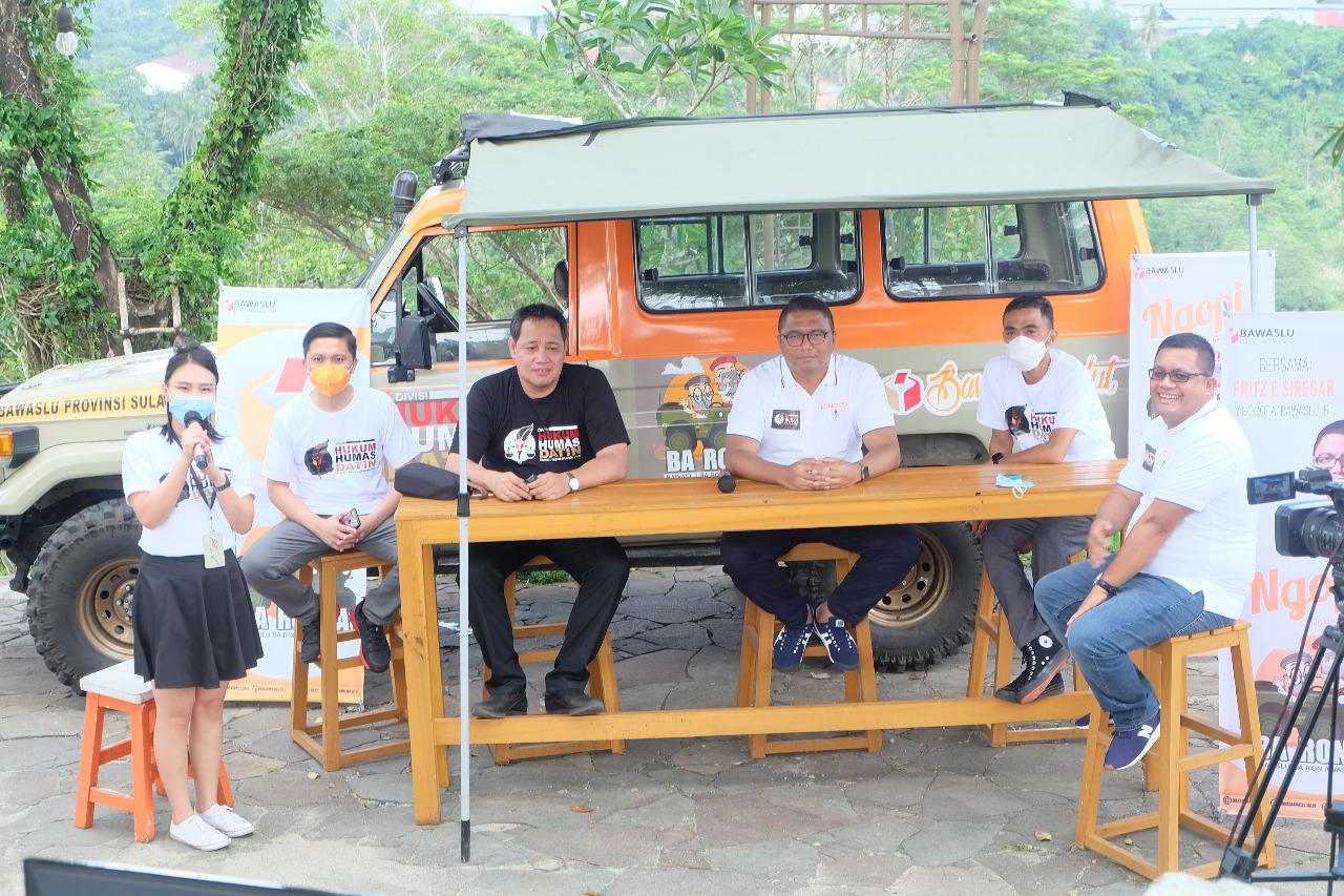 Bawaslu Provinsi Sulawesi Utara gelar kegiatan Ngobrol Pilkada melalui program Bawaslu Ba Ronda (Baron Awasi Pilkada) di Bawaslu Sulut